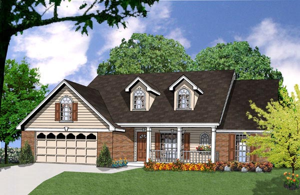 Country House Plan 77029 Elevation