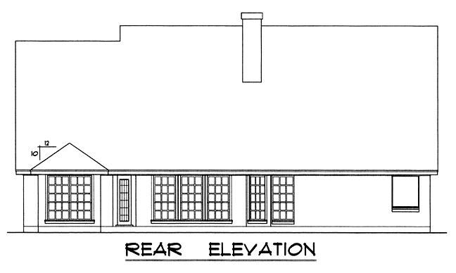 Country House Plan 77029 Rear Elevation