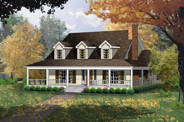 Country House Plan 77080 Elevation