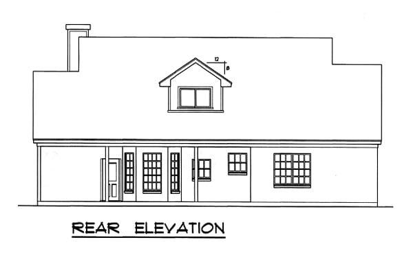 Country Farmhouse House Plan 77084 Rear Elevation