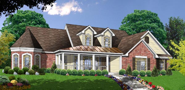 Country House Plan 77086 Elevation