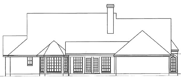 Country House Plan 77086 Rear Elevation