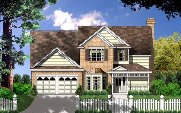 Country Traditional House Plan 77135 Elevation