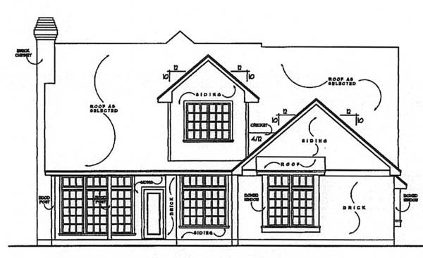 Country Traditional House Plan 77135 Rear Elevation