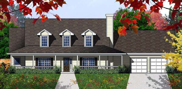Cape Cod Country House Plan 77183 Elevation