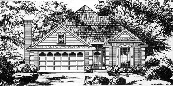 Traditional House Plan 77203 Elevation
