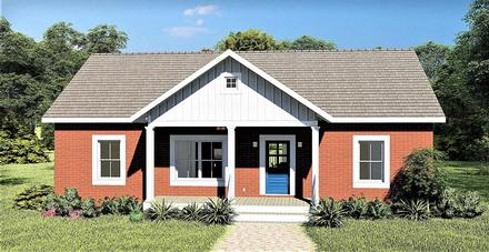 Country, Ranch House Plan 77406 with 3 Beds, 2 Baths