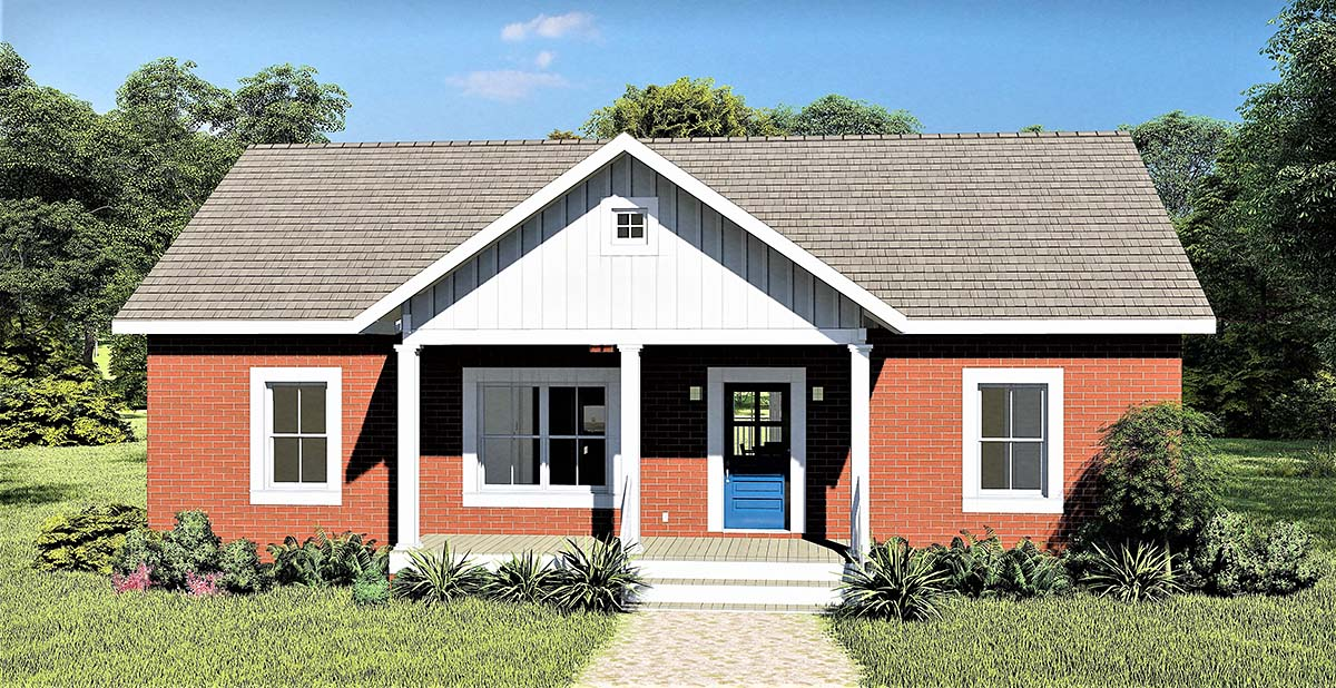 Country, Ranch House Plan 77406 with 3 Beds, 2 Baths Elevation