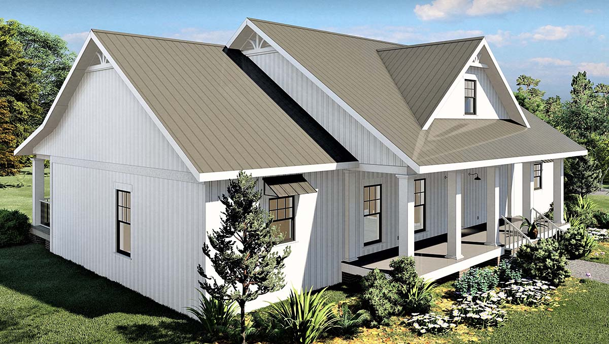 Country, Southern House Plan 77408 with 4 Beds, 3 Baths, 2 Car Garage Picture 2
