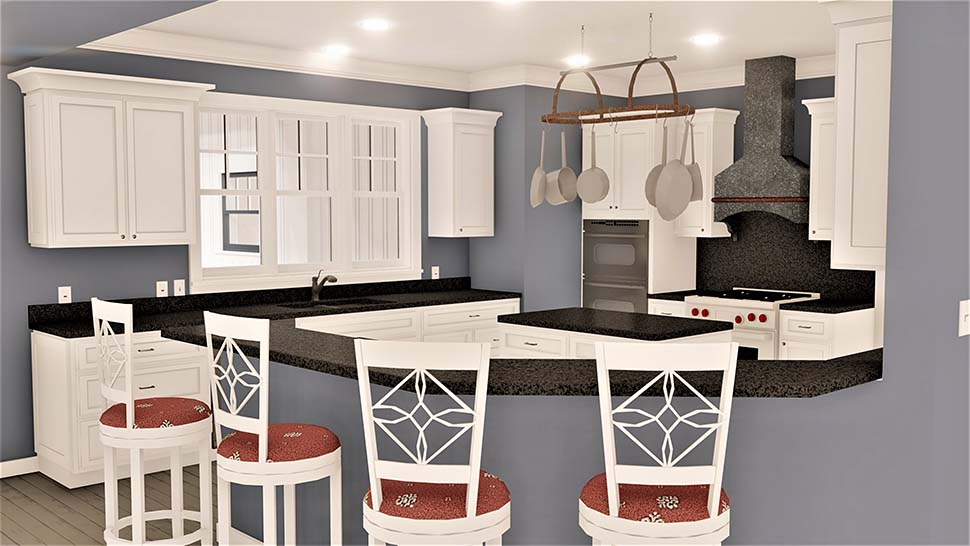 Country, Southern House Plan 77408 with 4 Beds, 3 Baths, 2 Car Garage Picture 6