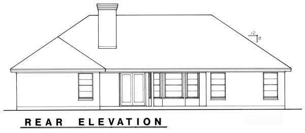 Traditional House Plan 77748 Rear Elevation