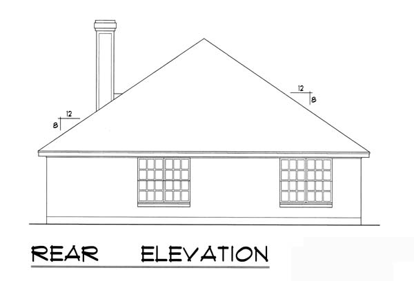 Traditional House Plan 77749 Rear Elevation