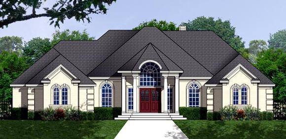 Traditional House Plan 77762 with 3 Beds, 2 Baths, 2 Car Garage Elevation