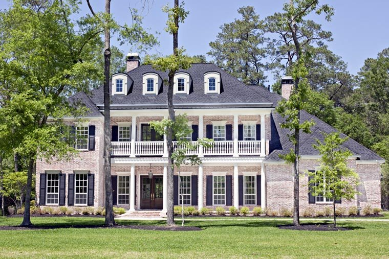 House Plan at FamilyHomePlans comPlantation House Plan Elevation