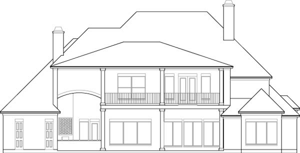 Plantation House Plan 77818 Rear Elevation