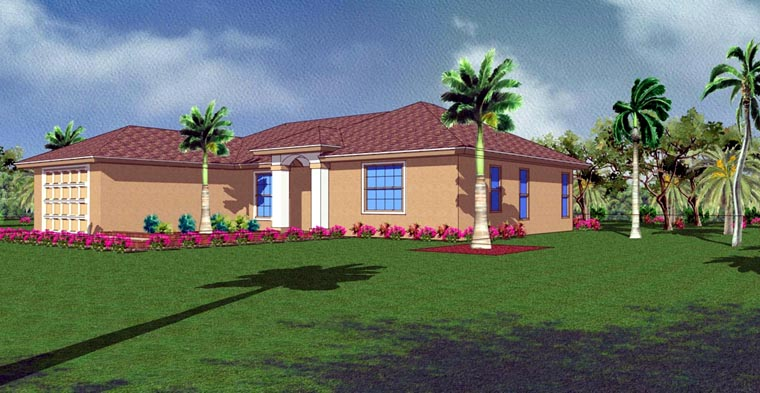 Mediterranean House Plan 78102