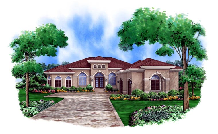 Mediterranean Style House Plan 78105 With 3182 Sq Ft 3