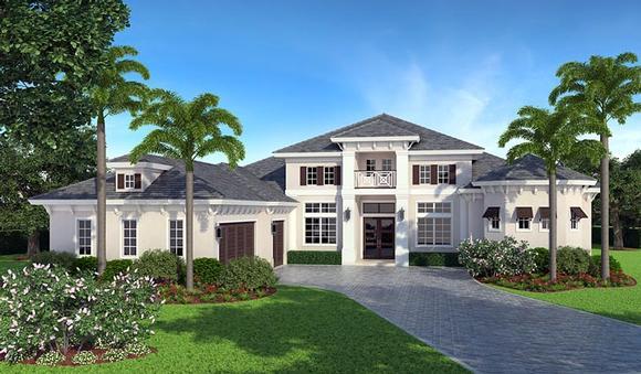 Coastal House Plan 78114 with 4 Beds, 5 Baths, 3 Car Garage Elevation