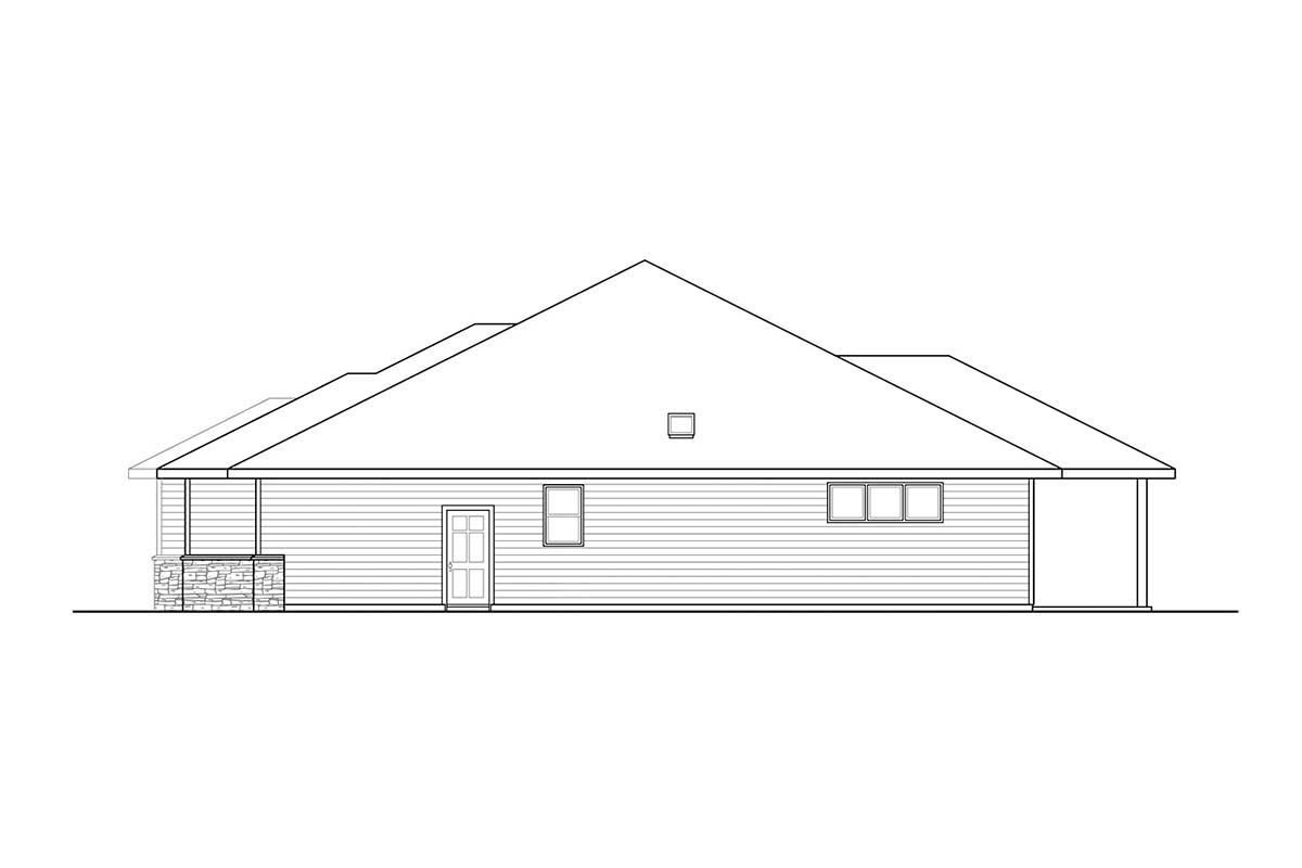 Prairie, Ranch, Traditional House Plan 78406 with 3 Beds, 4 Baths, 2 Car Garage Picture 1