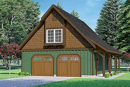 Garage-Living Plan 78434