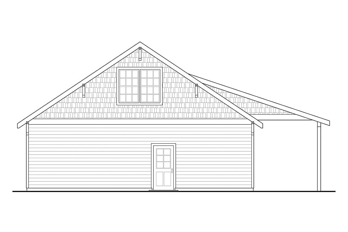 Craftsman Traditional Rear Elevation of Plan 78438