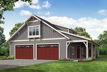 Garage-Living Plan 78452