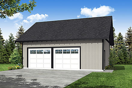 Ranch Traditional Elevation of Plan 78475