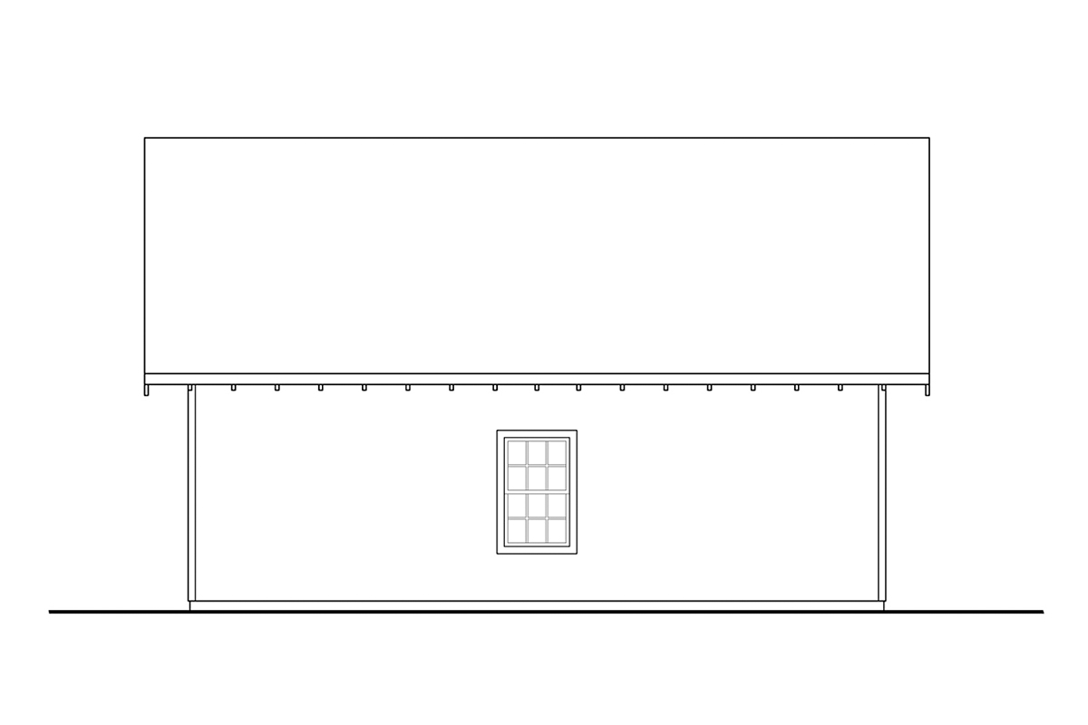 Ranch Traditional Rear Elevation of Plan 78475