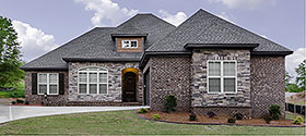European , Traditional House Plan 78500 with 3 Beds, 2 Baths, 2 Car Garage Elevation