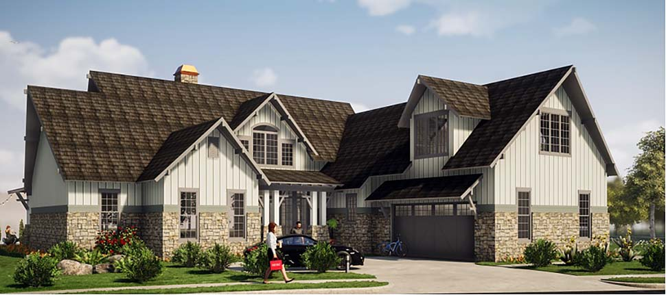 Tudor, Tuscan House Plan 78501 with 5 Beds, 6 Baths, 2 Car Garage Elevation