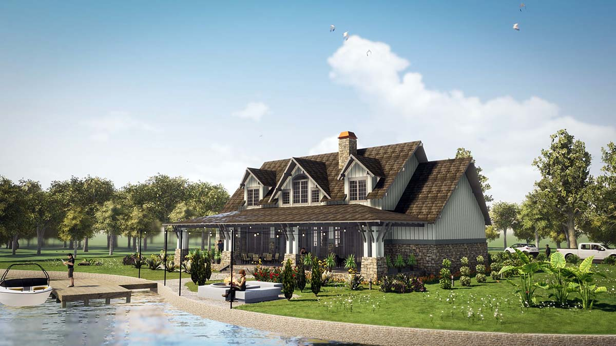 Tudor, Tuscan House Plan 78501 with 5 Beds, 6 Baths, 2 Car Garage Picture 2
