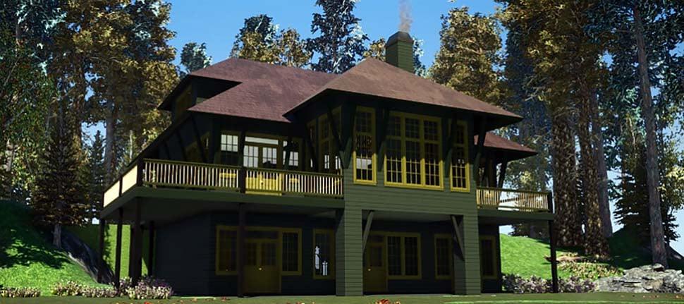 Coastal, European House Plan 78504 with 5 Beds, 5 Baths Elevation
