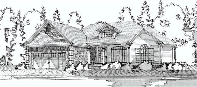 European Traditional House Plan 78601 Elevation