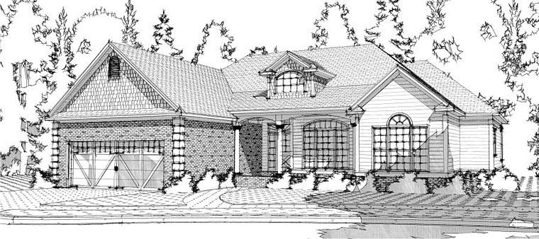 European Traditional House Plan 78605 Elevation