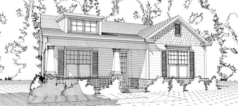 Bungalow Cottage Craftsman House Plan 78637 Elevation