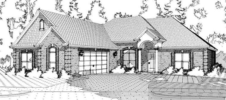 European Traditional House Plan 78640 Elevation