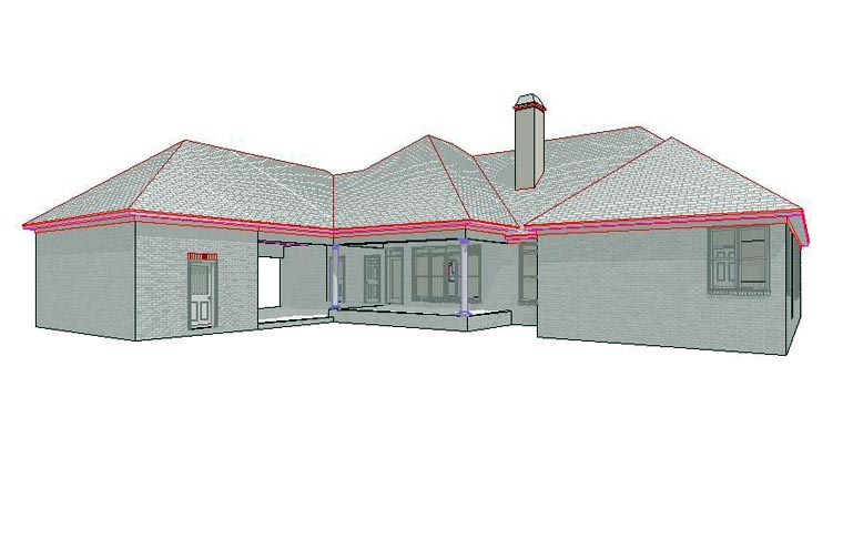 Traditional House Plan 78705 Rear Elevation