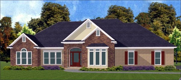 Traditional House Plan 78734 Elevation
