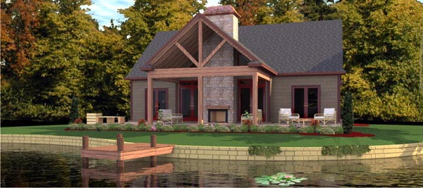 Bungalow House Plan 78776 with 2 Beds, 2 Baths Elevation