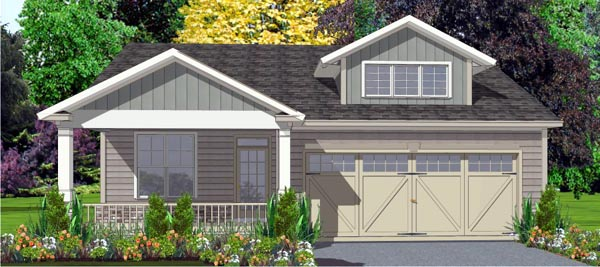 Contemporary House Plan 78791 Elevation