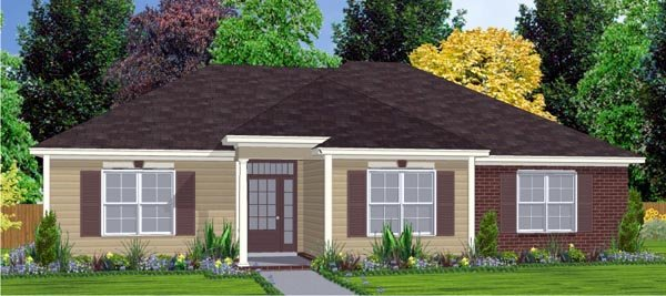 Contemporary House Plan 78803 Elevation