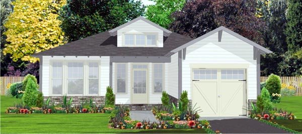 Contemporary House Plan 78807 Elevation