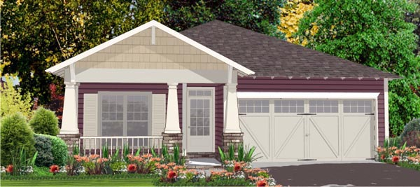 Cottage Craftsman Traditional House Plan 78812 Elevation
