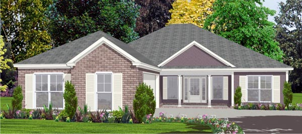 Traditional House Plan 78821 Elevation