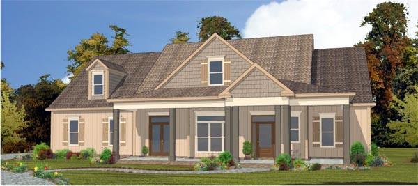 European House Plan 78838 Elevation