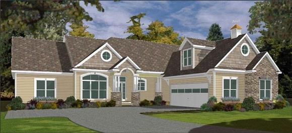 Traditional House Plan 78857 with 5 Beds, 4 Baths, 3 Car Garage Elevation