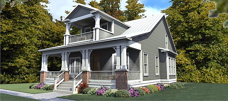Cottage Country Craftsman House Plan 78892 Elevation