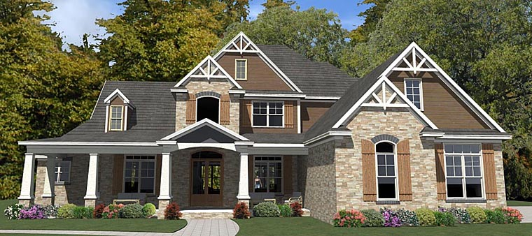 Craftsman Traditional House Plan 78894 Elevation