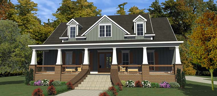 Bungalow, Cottage, Country, Craftsman, Farmhouse, Historic House Plan 78898 with 3 Beds, 3 Baths, 2 Car Garage Elevation