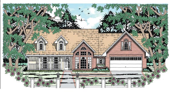 Traditional House Plan 79006 Elevation